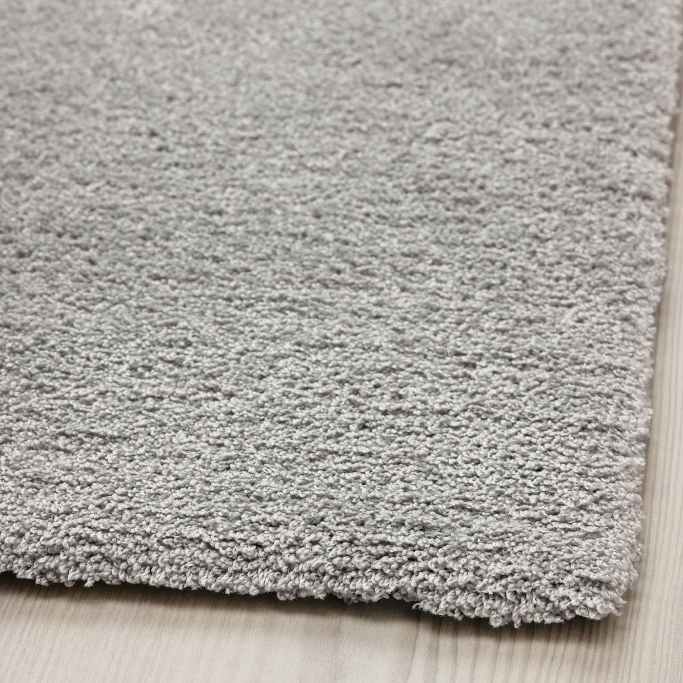 knardrup tapis poils ras gris clair 160x230 cm