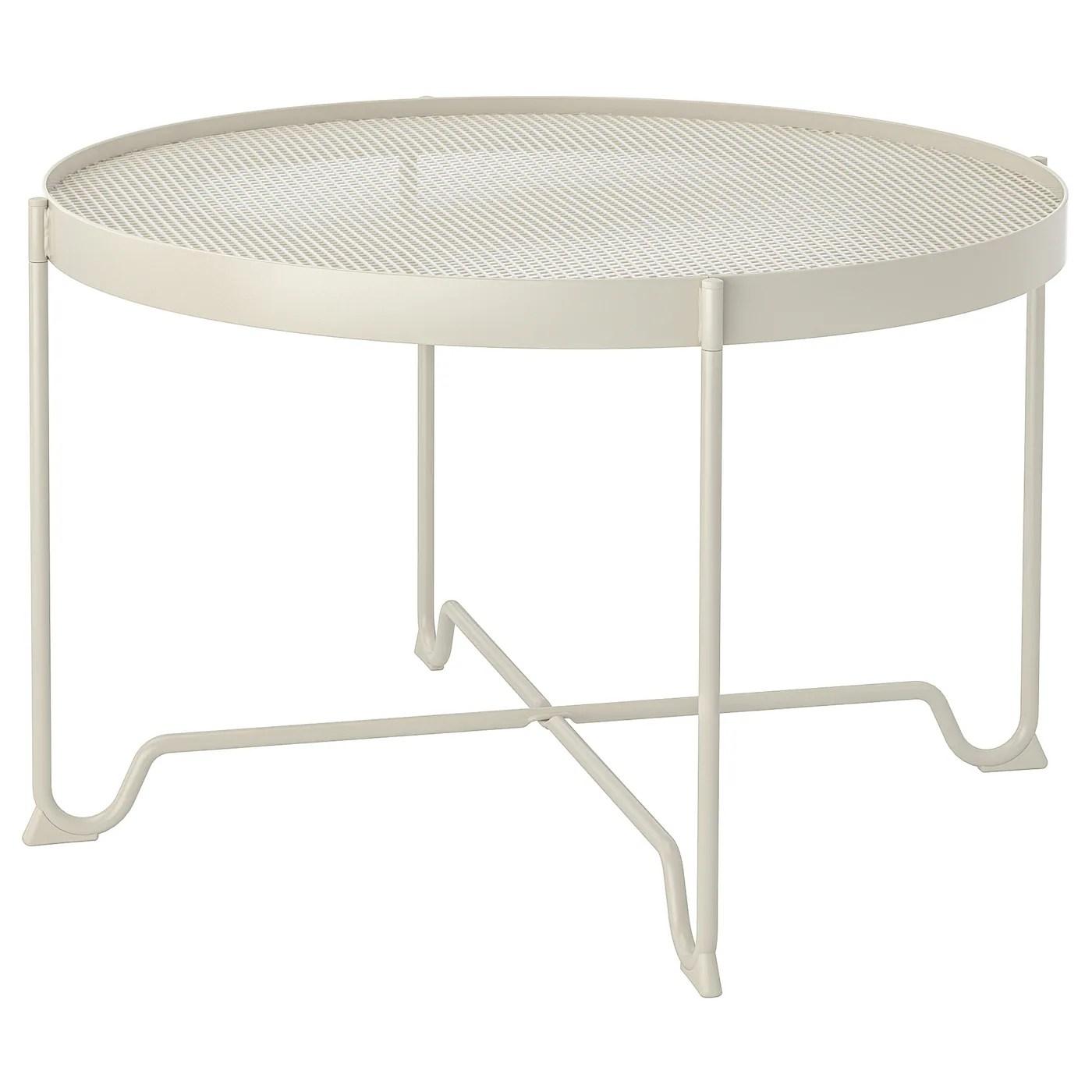 krokholmen table basse exterieur beige 73 cm