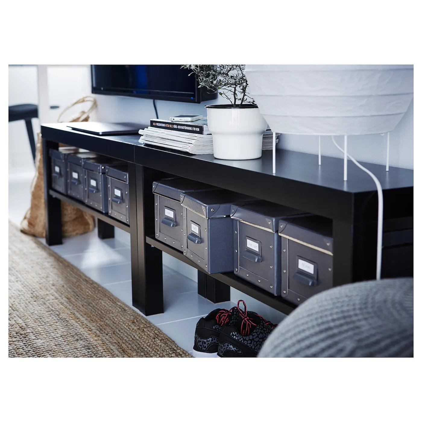 lack banc tv noir 90x26x45 cm