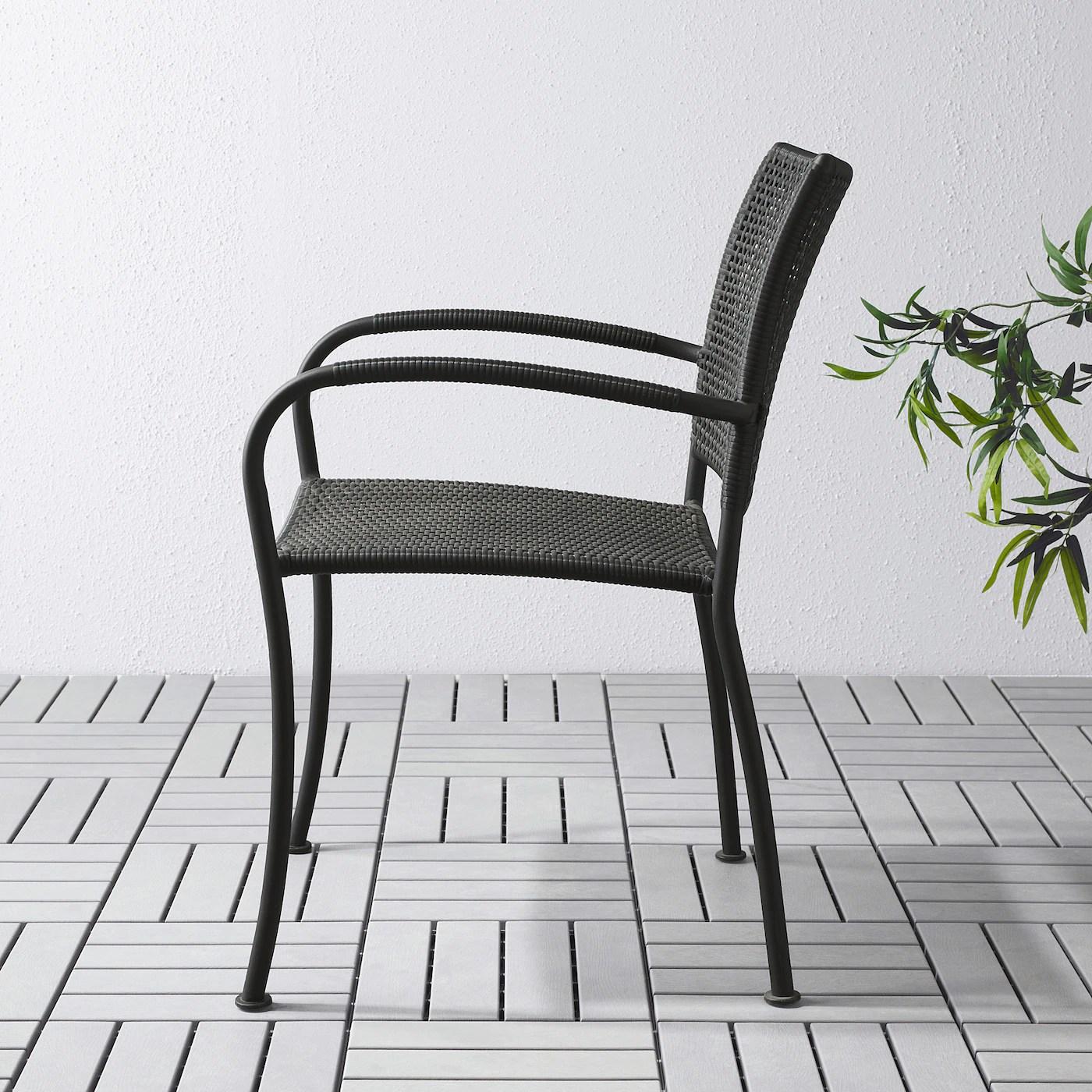 lacko chaise avec accoudoirs exterieur gris