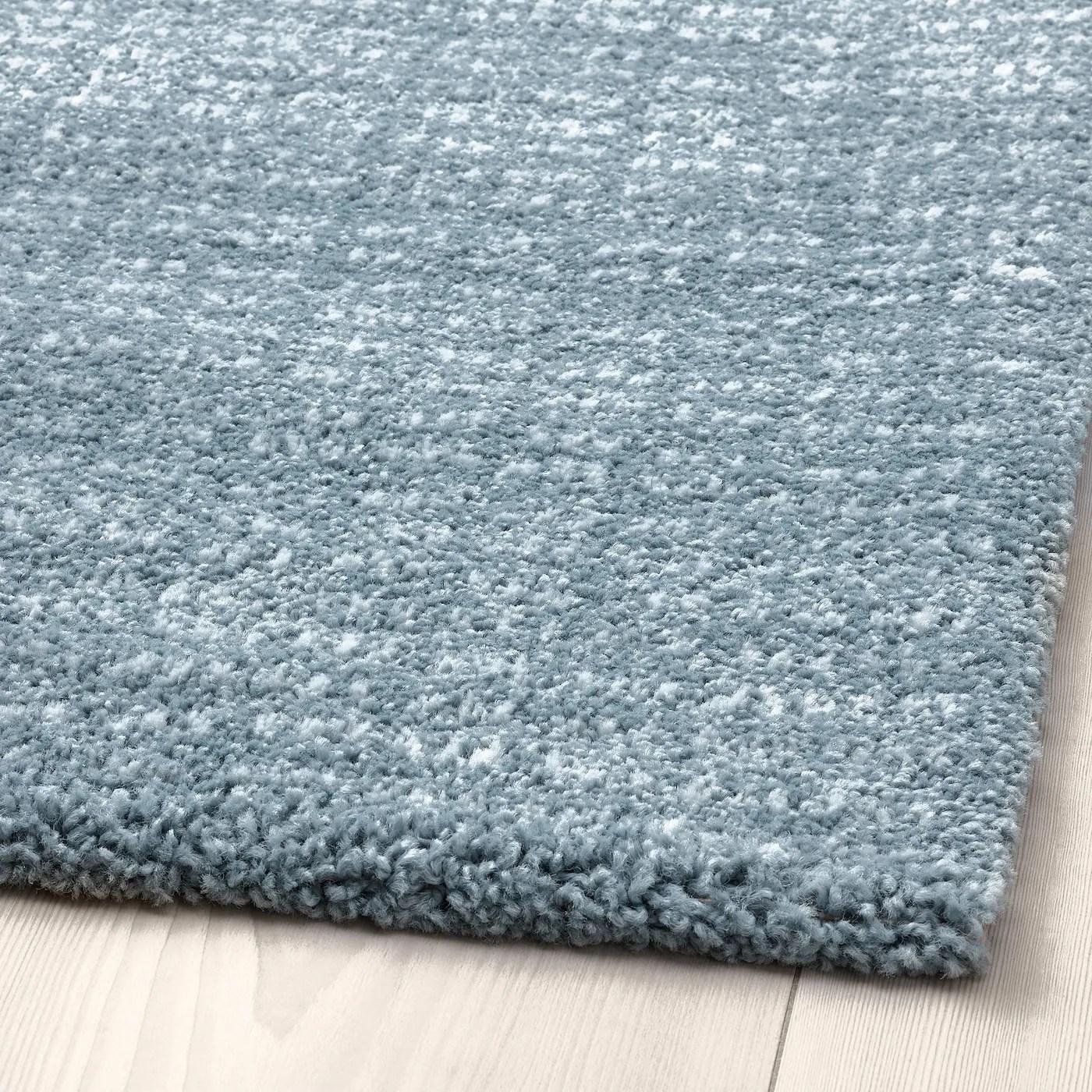 langsted tapis poils ras bleu clair 133x195 cm