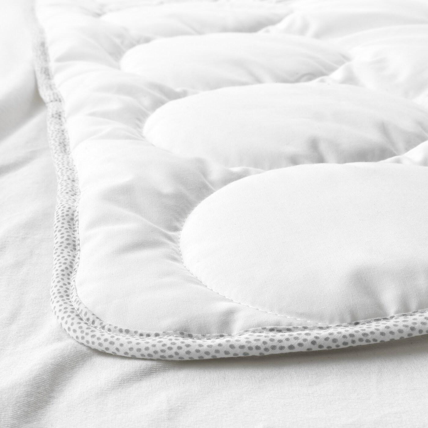 lenast couette pour lit bebe blanc gris 110x125 cm