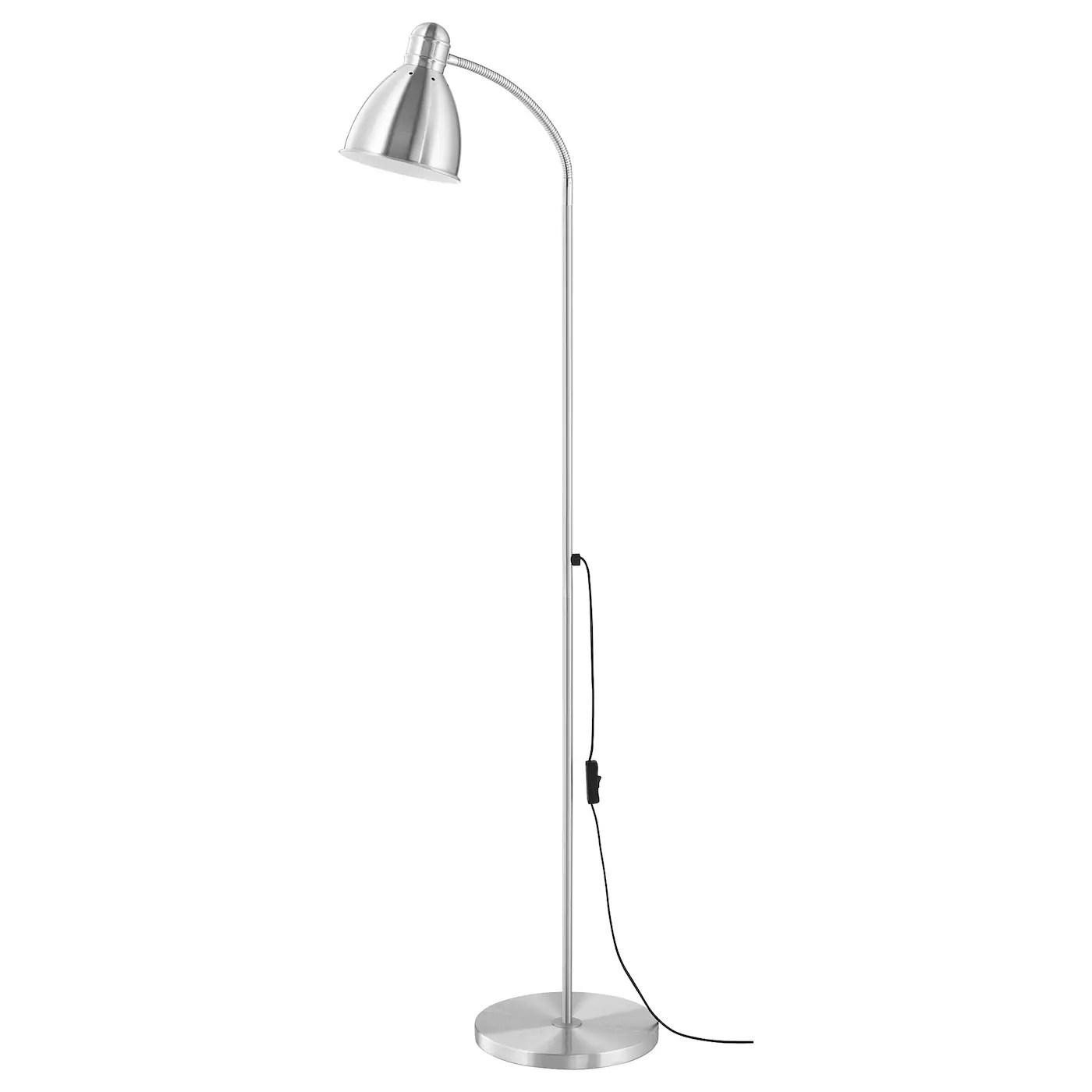 lersta lampadaire liseuse aluminium