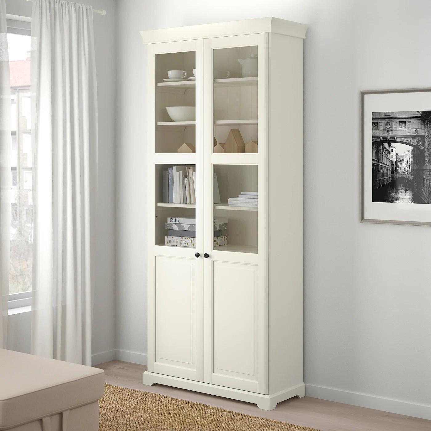 liatorp bibliotheque vitree blanc 96x214 cm
