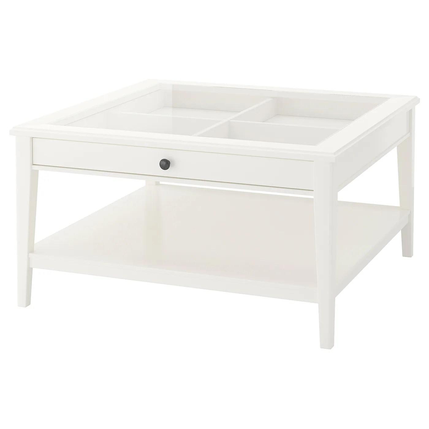 liatorp table basse blanc verre 93x93 cm