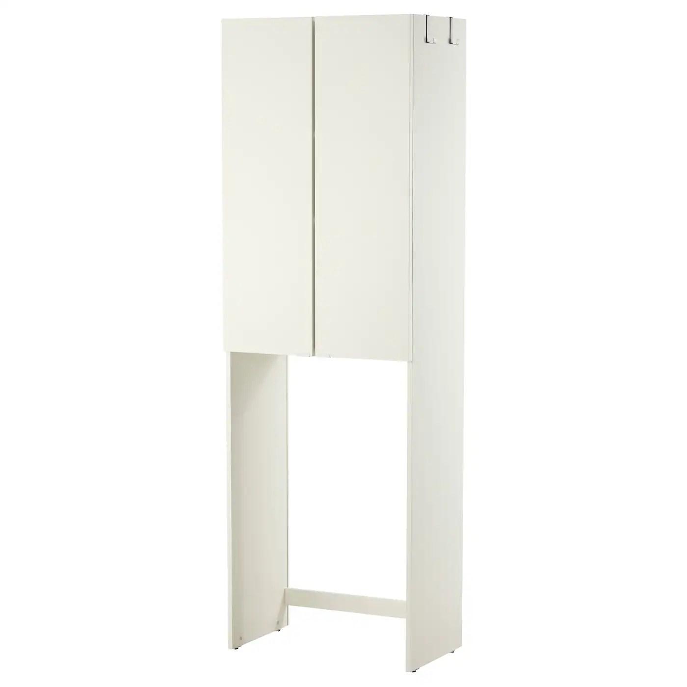 lillangen meuble pour machine a laver blanc 64x38x195 cm