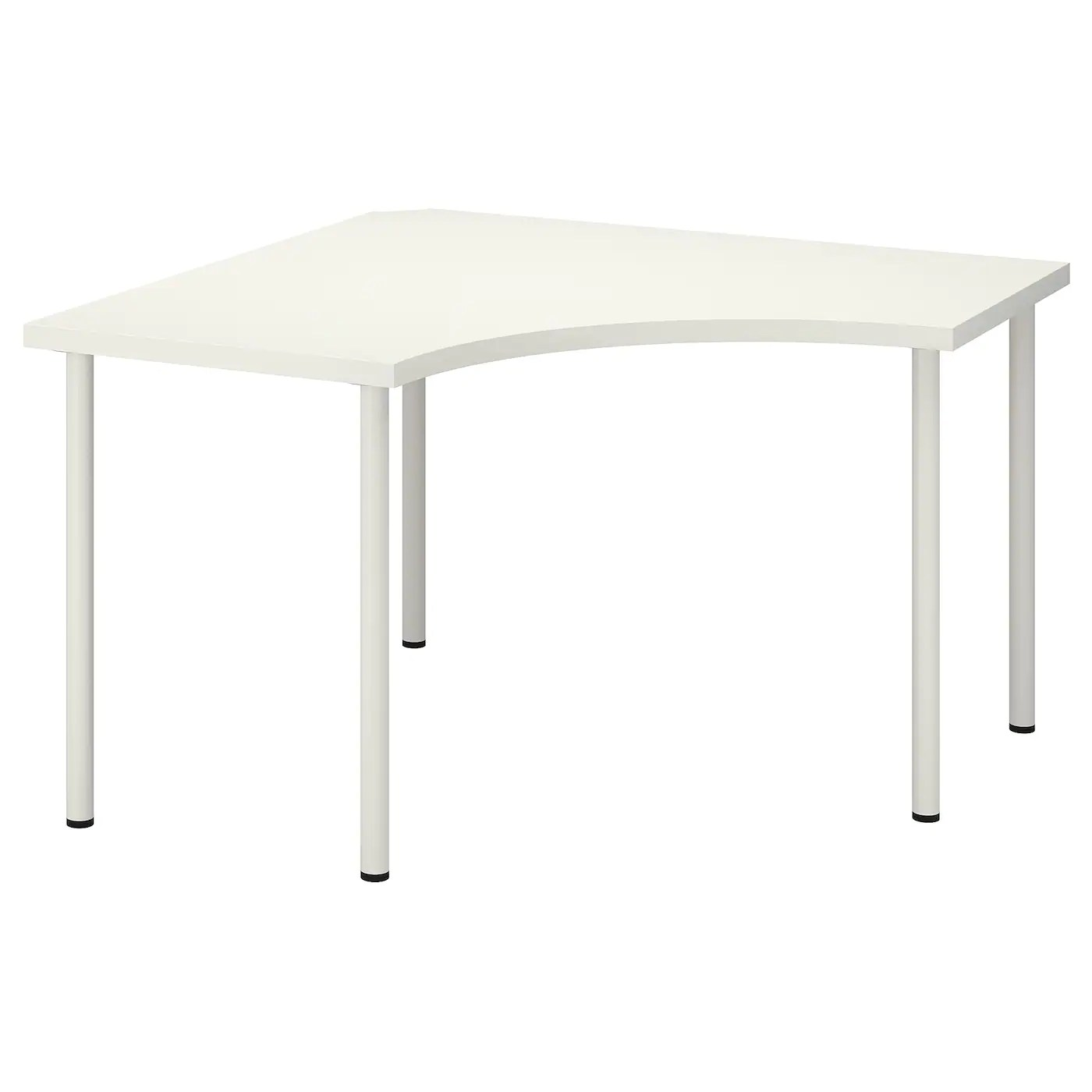 linnmon adils table d angle blanc 120x120 cm