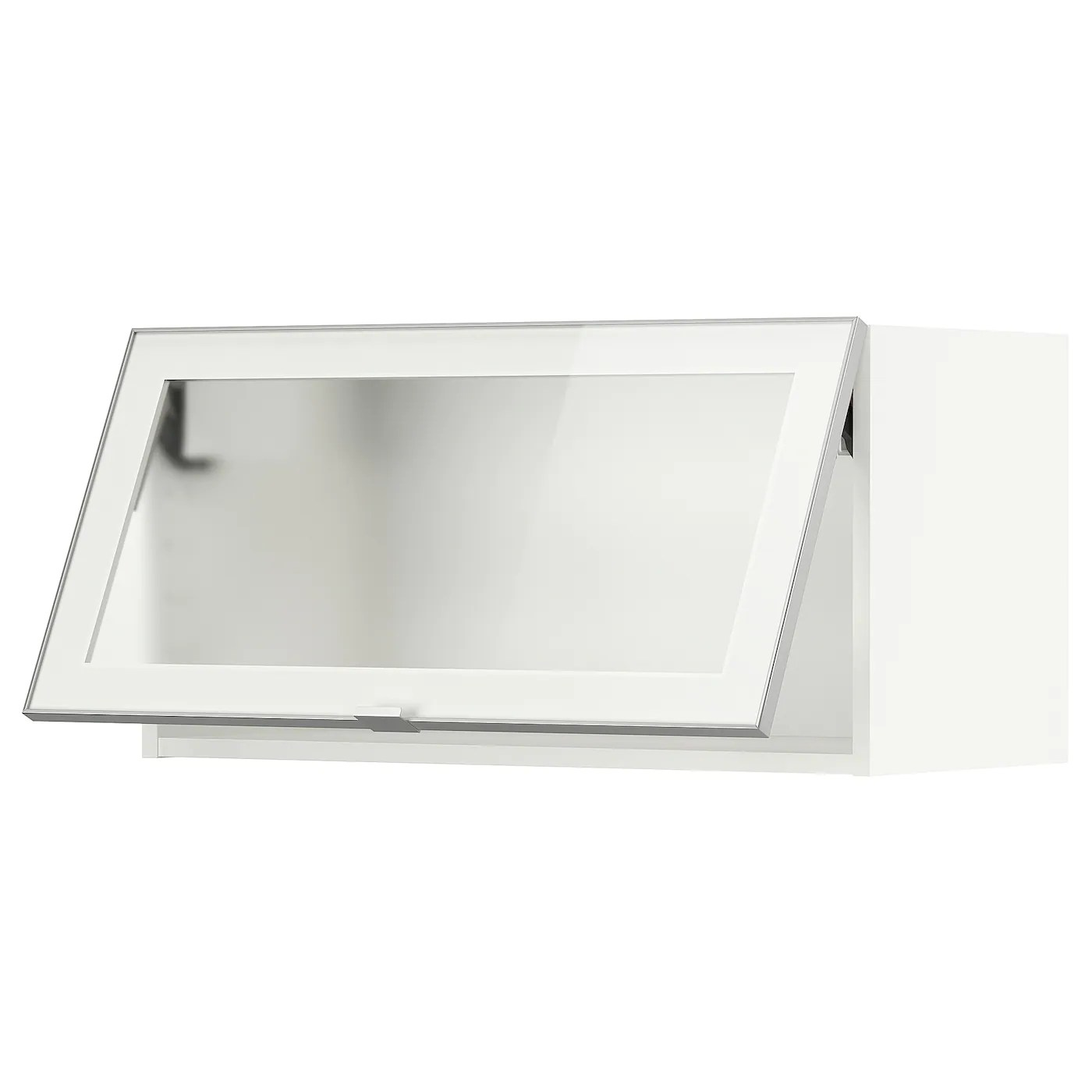 metod element mural horizontal vitre blanc jutis verre givre 80x40 cm