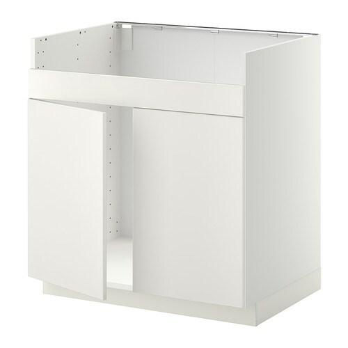 METOD lment pour vier DOMSJ 2 bacs  blanc Veddinge blanc  IKEA