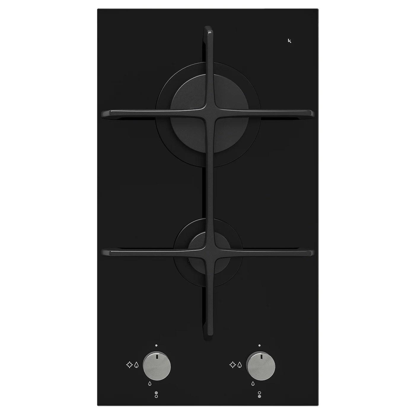 mojlig table de cuisson gaz 2 bruleurs noir 29 cm
