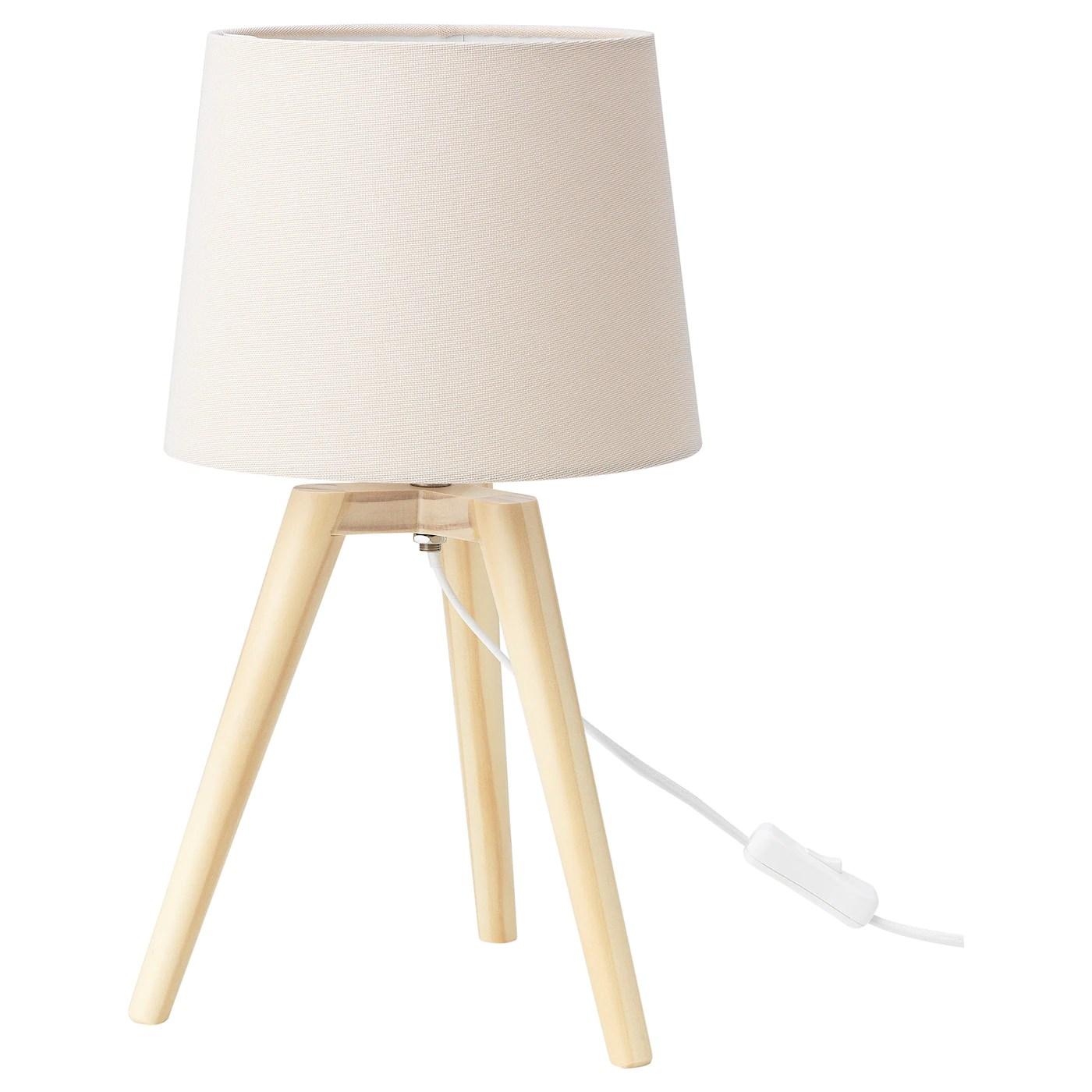 mylinge lampe de table blanc bois