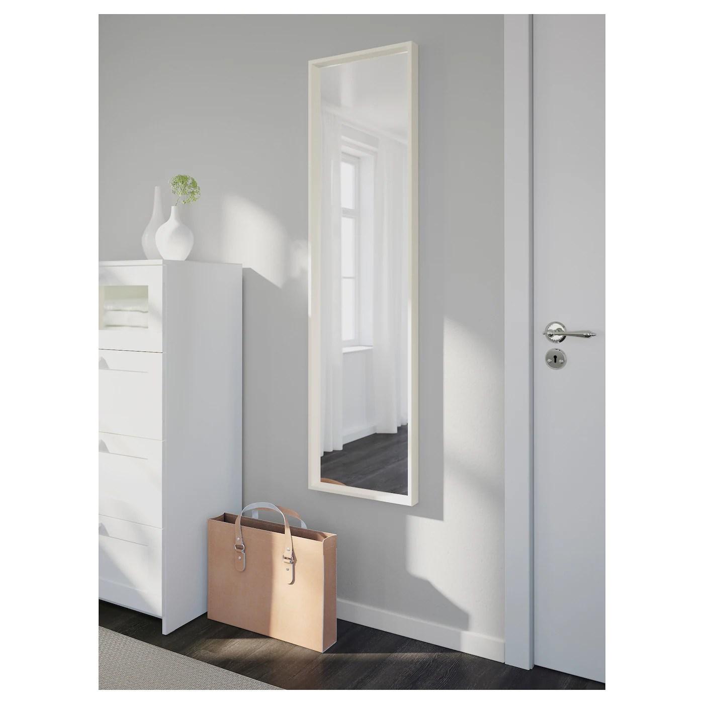 nissedal miroir blanc 40x150 cm