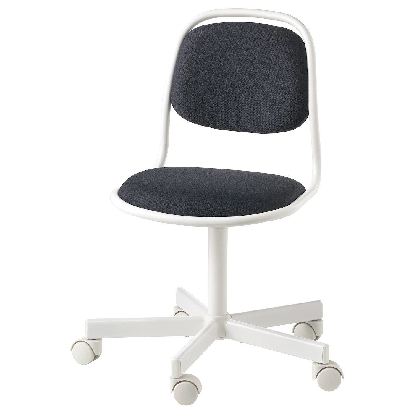 orfjall chaise de bureau enfant blanc vissle gris fonce