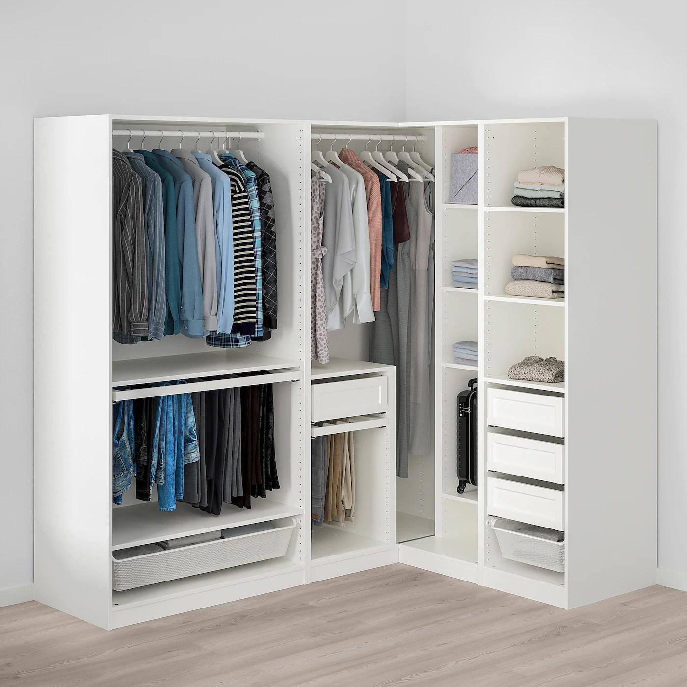 pax armoire d angle blanc 210 160x201 cm