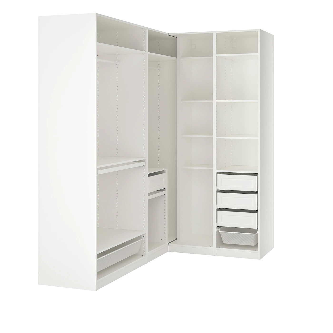 pax armoire d angle blanc 210 160x236 cm