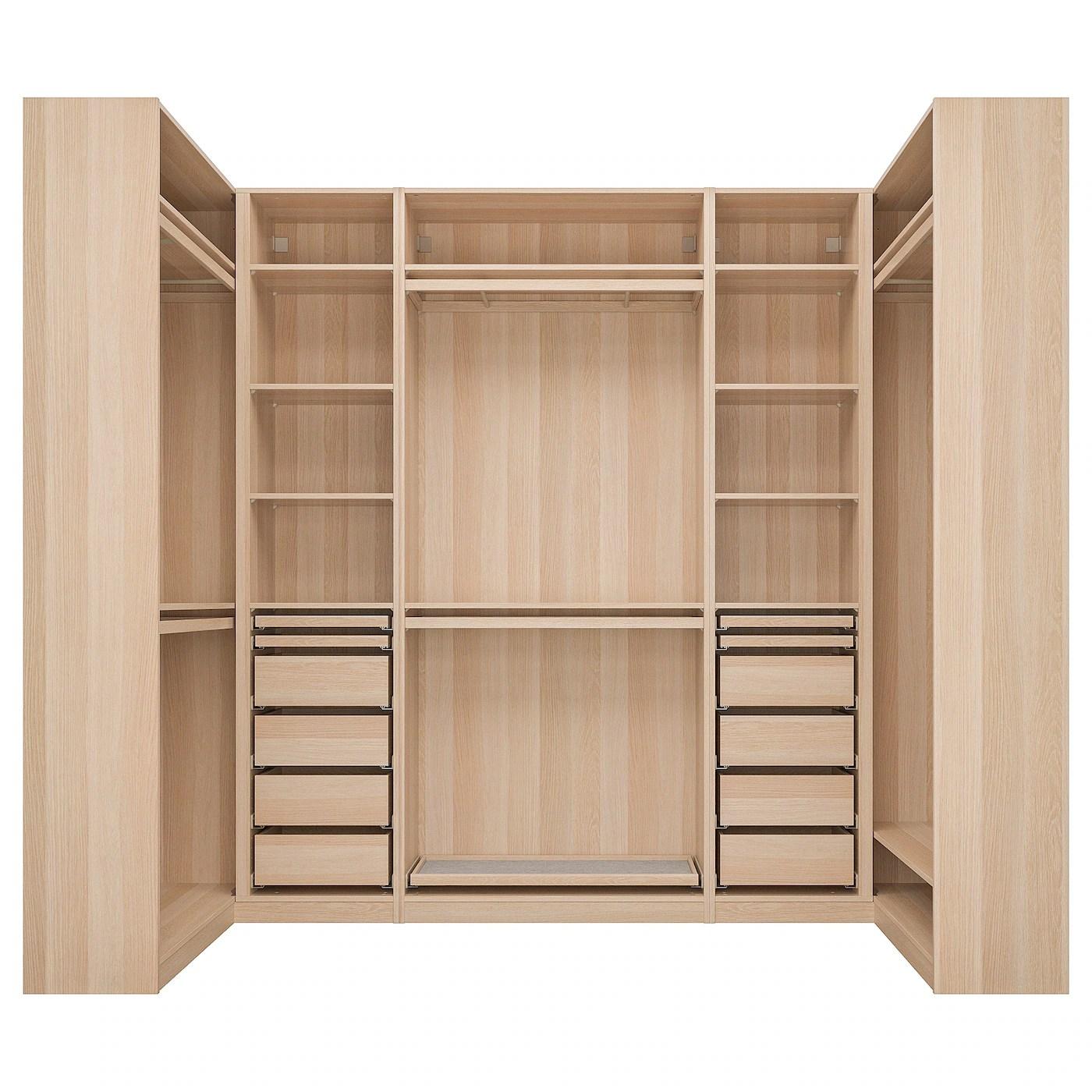 pax armoire d angle effet chene blanchi 113 276 113x236 cm