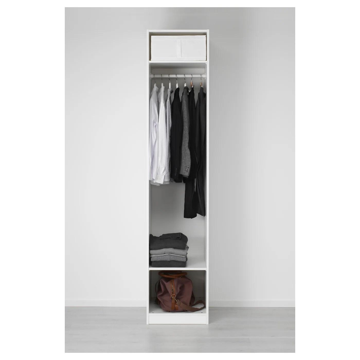 Pax Armoire Penderie Blanc Vikedal Miroir 50x60x236 Cm Ikea