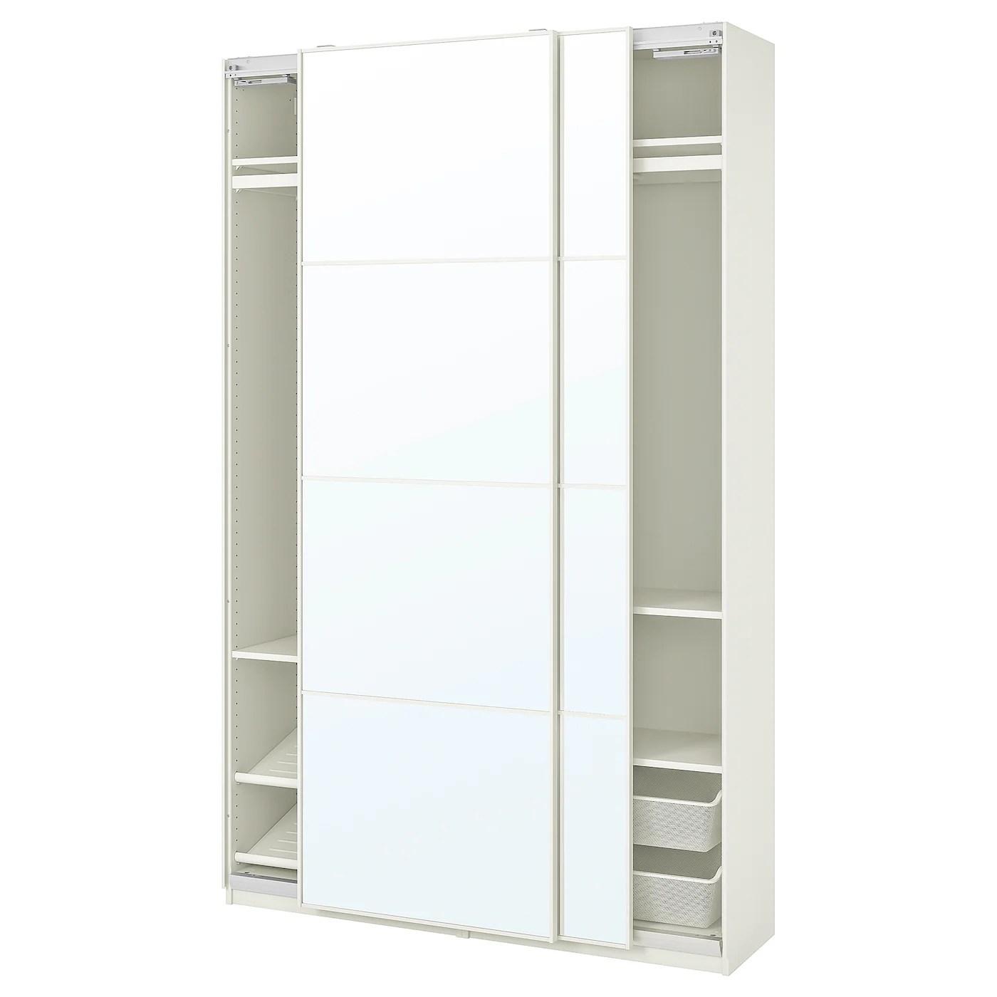 Pax Auli Combinaison Armoire Blanc Miroir 150x44x236 Cm Ikea