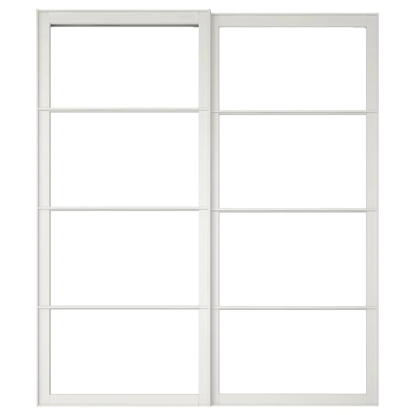 pax cadre porte coulissante 2pces blanc 200x236 cm