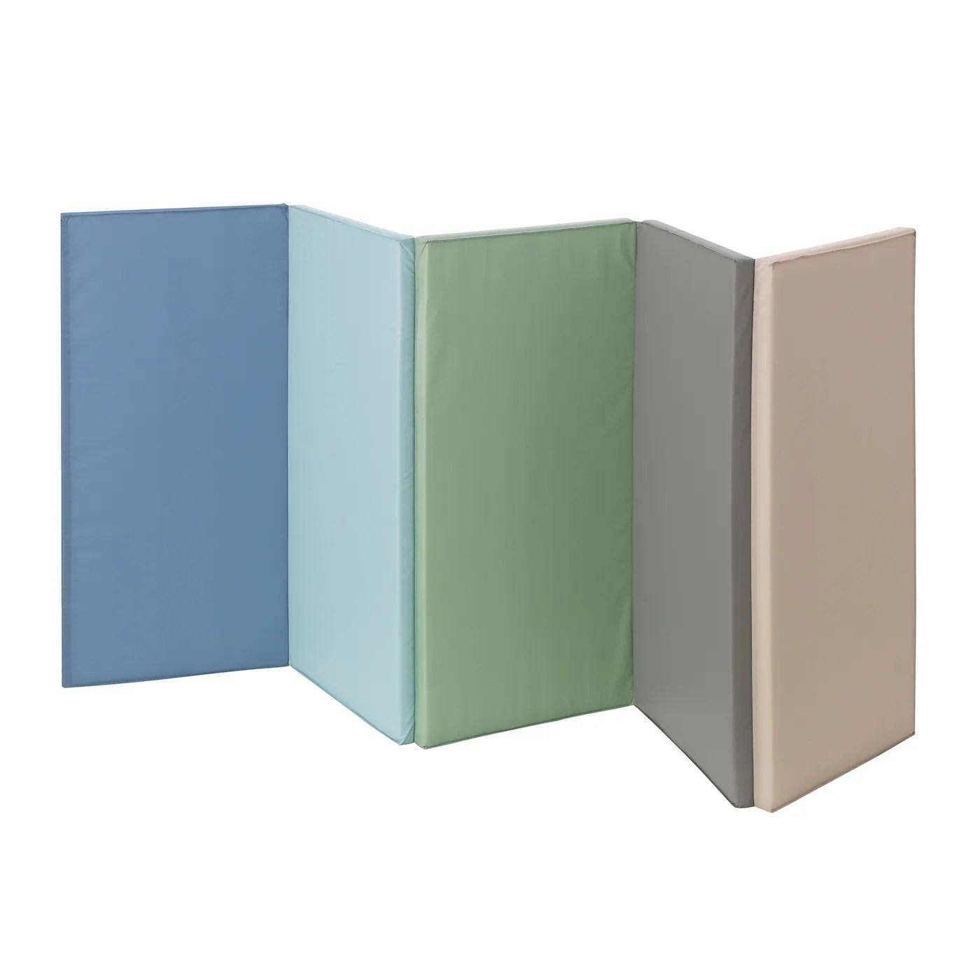plufsig tapis de gymnastique pliant bleu 78x185 cm