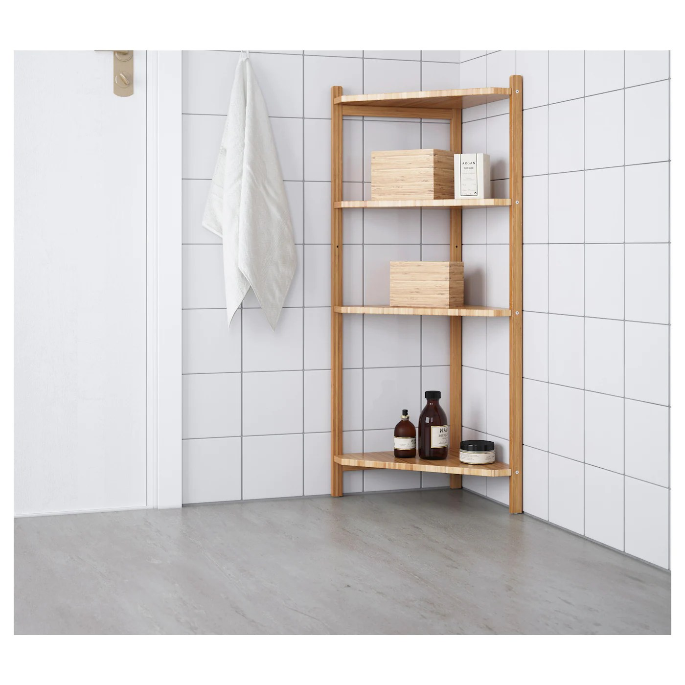 ragrund etagere d angle bambou 34x99 cm
