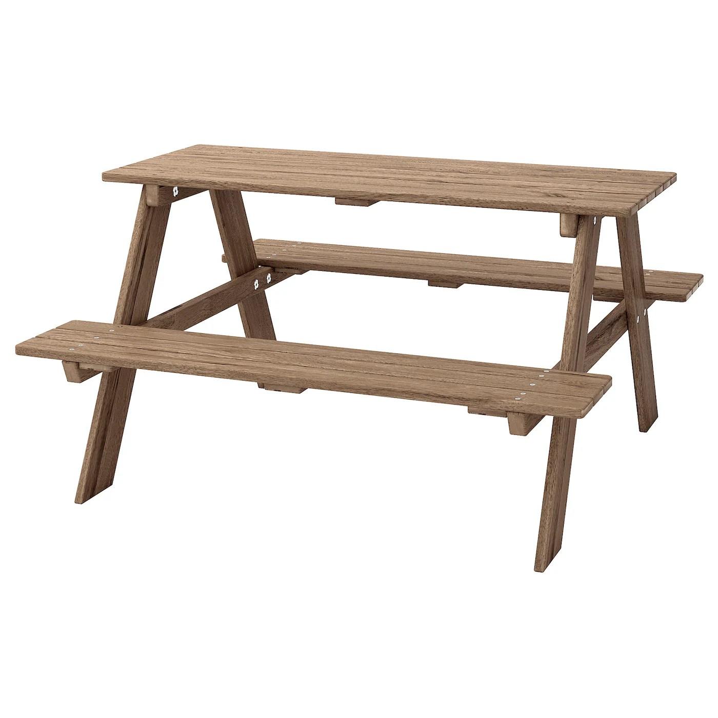 reso table pique nique pour enfants teinte gris brun