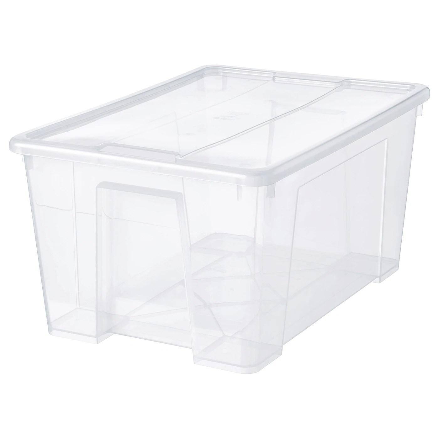 samla boite avec couvercle transparent 57x39x28 cm 45 l