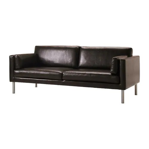 ikea sater sofa leather with chaise lounge sÄter canapé 2,5 places -