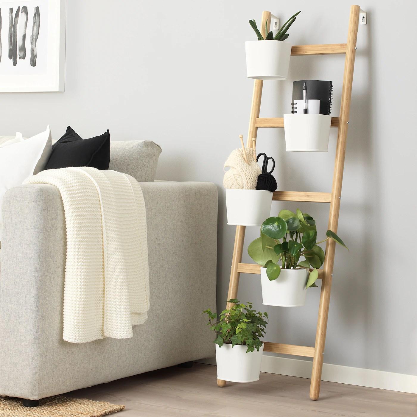 satsumas piedestal pour 5 pots bambou blanc 125 cm