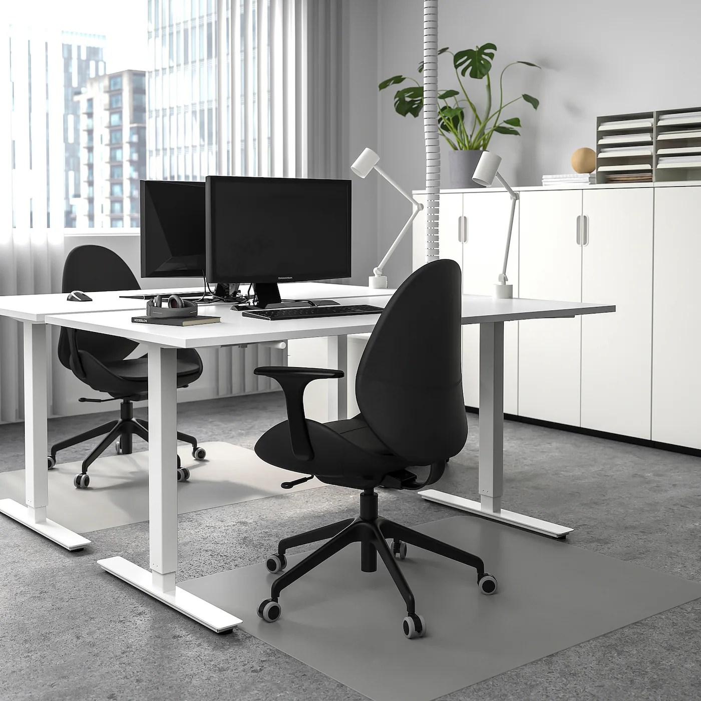 Skarsta Bureau Assis Debout Blanc 160x80 Cm Ikea