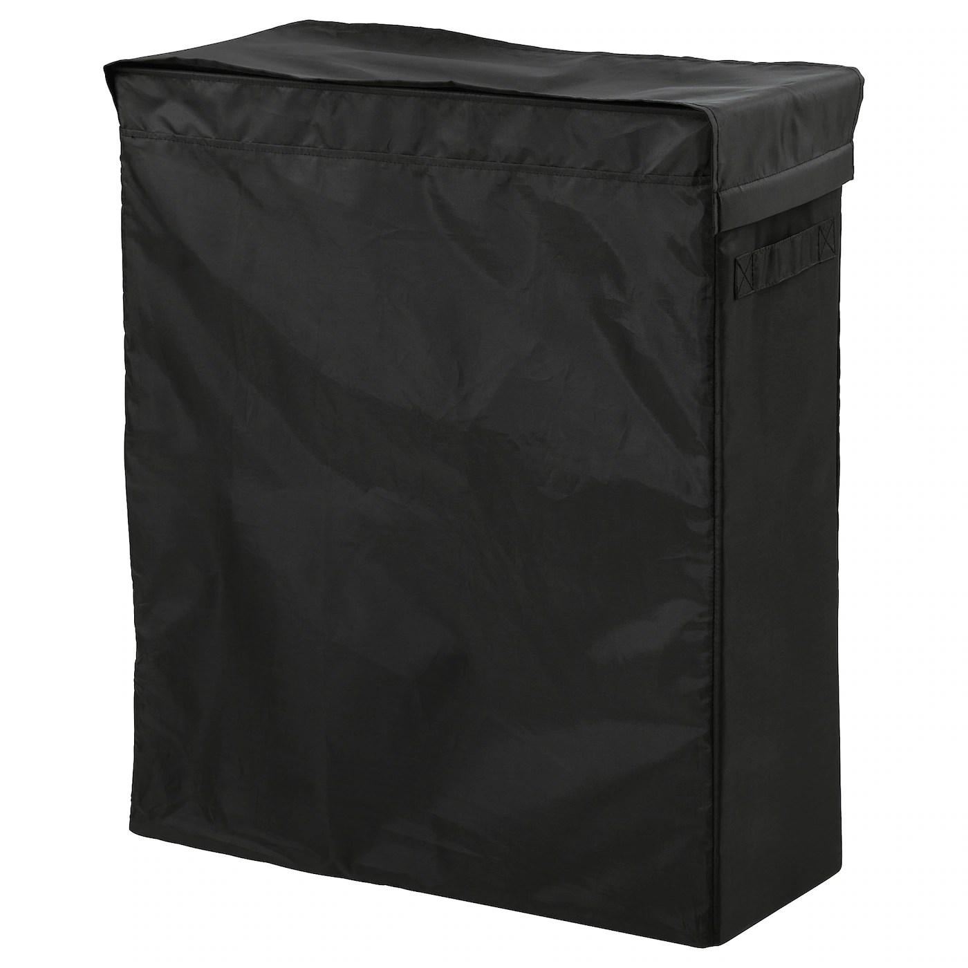 skubb sac a linge et support noir 80 l