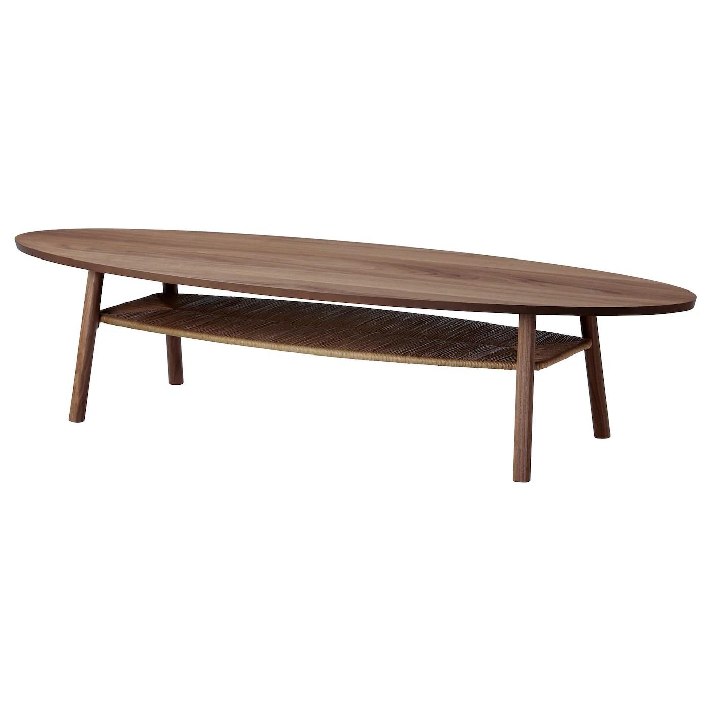 stockholm table basse plaque noyer 180x59 cm