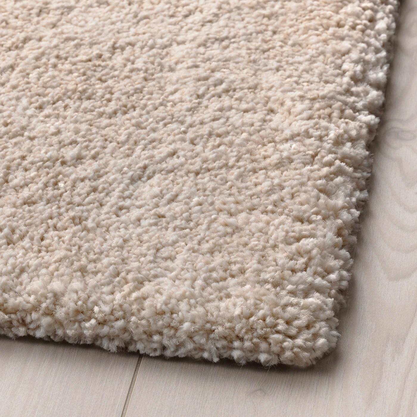 stoense tapis poils ras blanc casse 200x300 cm