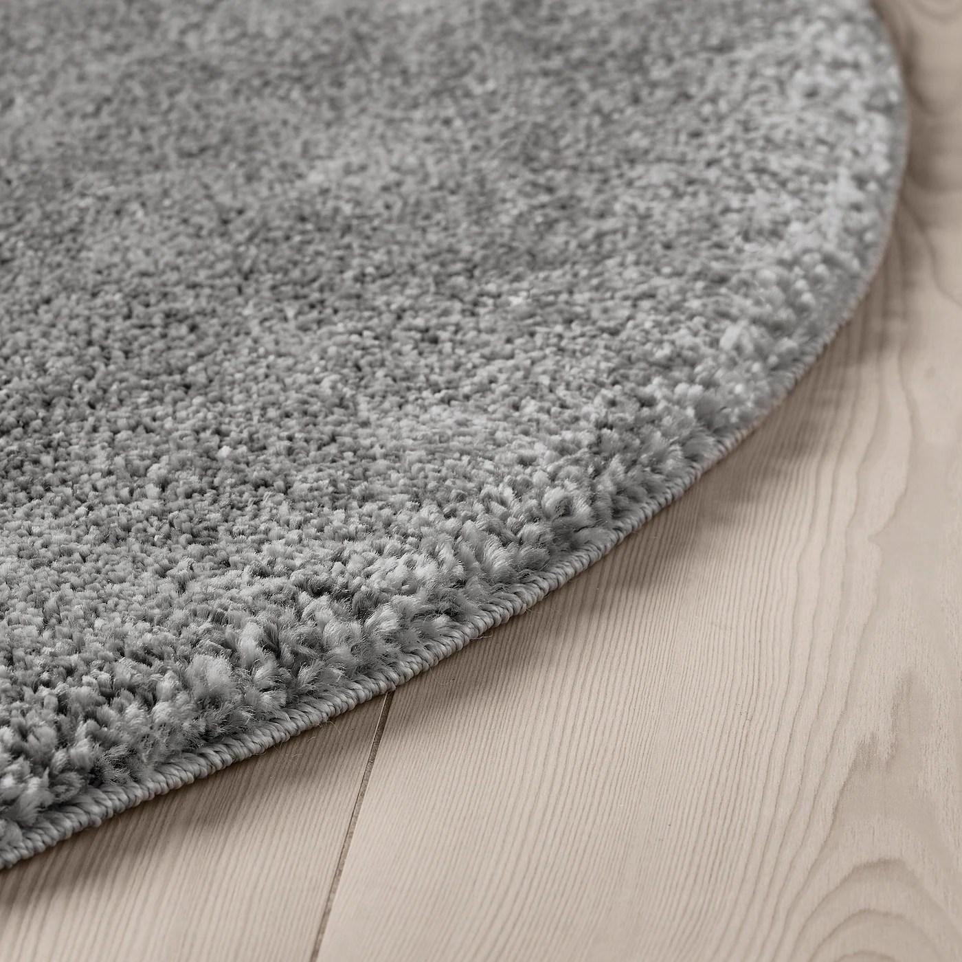 stoense tapis poils ras gris moyen 130 cm