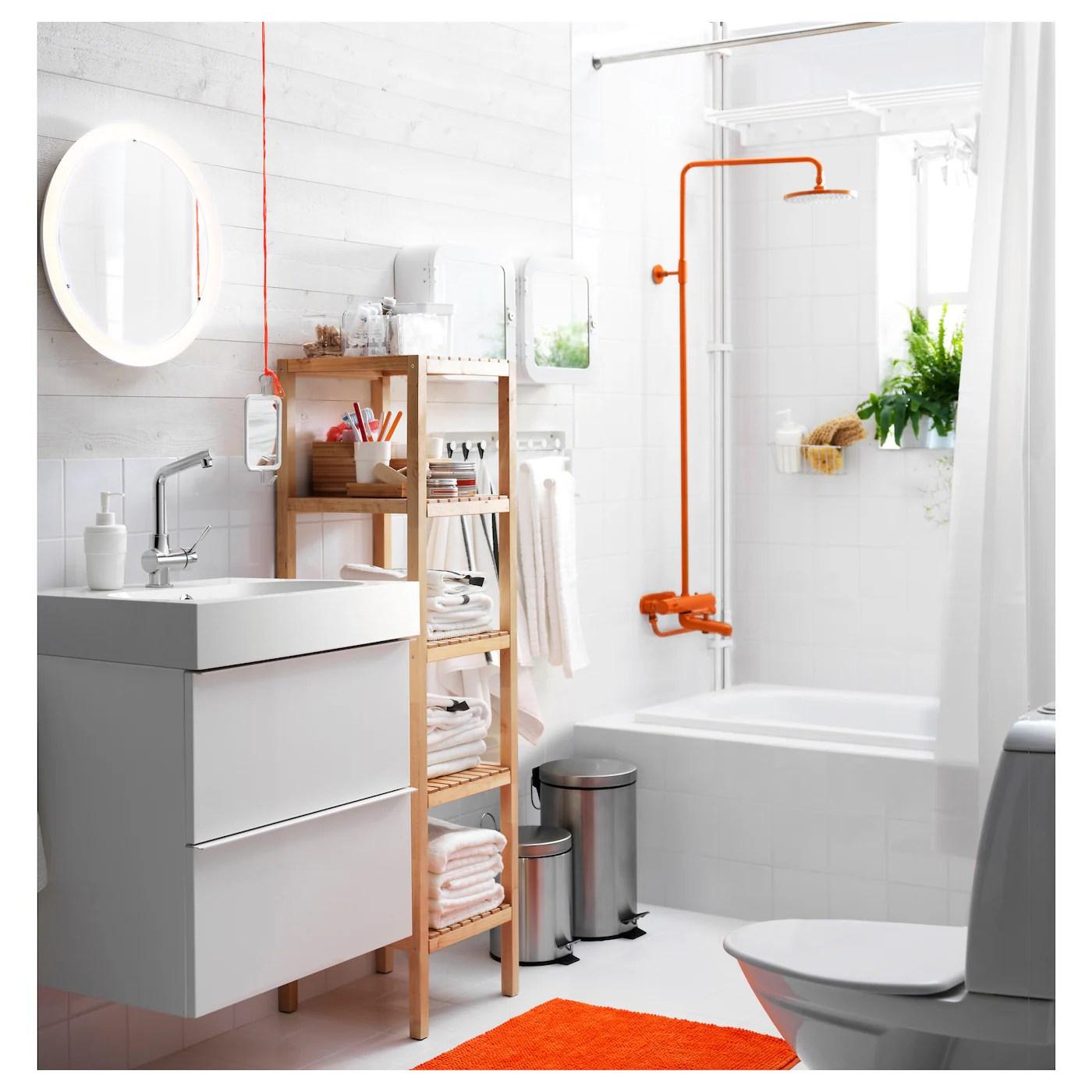 Storjorm Miroir Avec Eclairage Integre Blanc 47 Cm Ikea