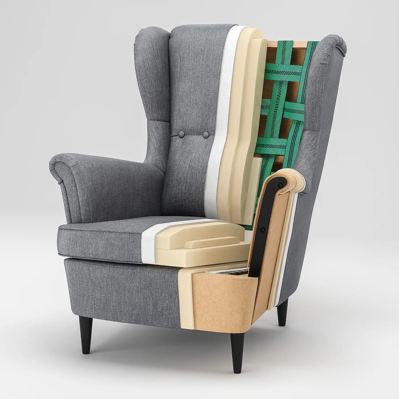 strandmon fauteuil a oreilles skiftebo jaune