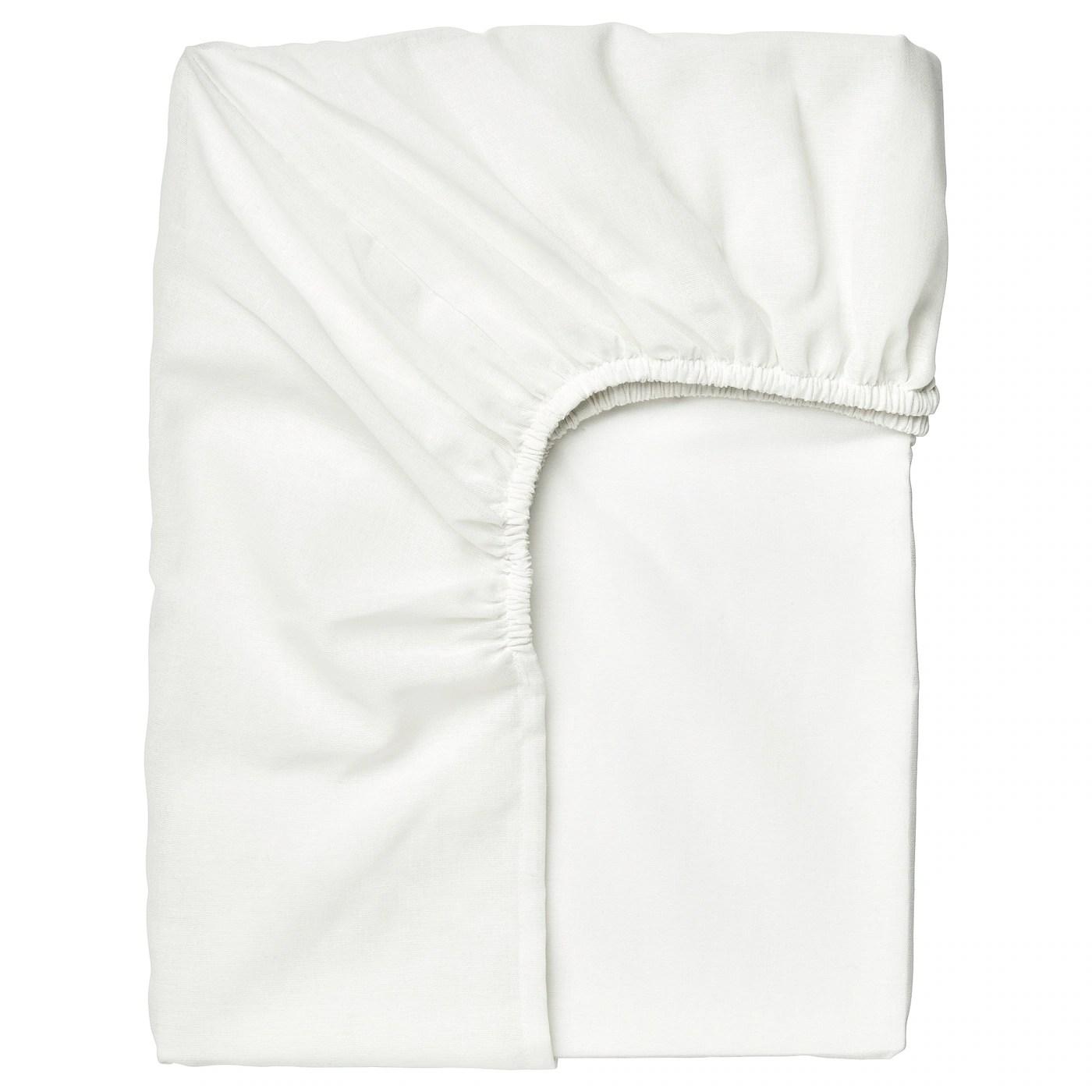 taggvallmo drap housse blanc 90x200 cm