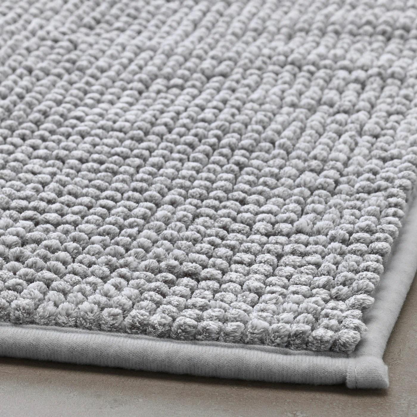 toftbo tapis de bain blanc gris melange 50x80 cm