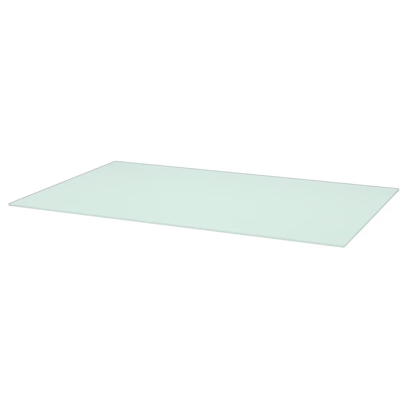 torsby plateau verre blanc 135x85 cm