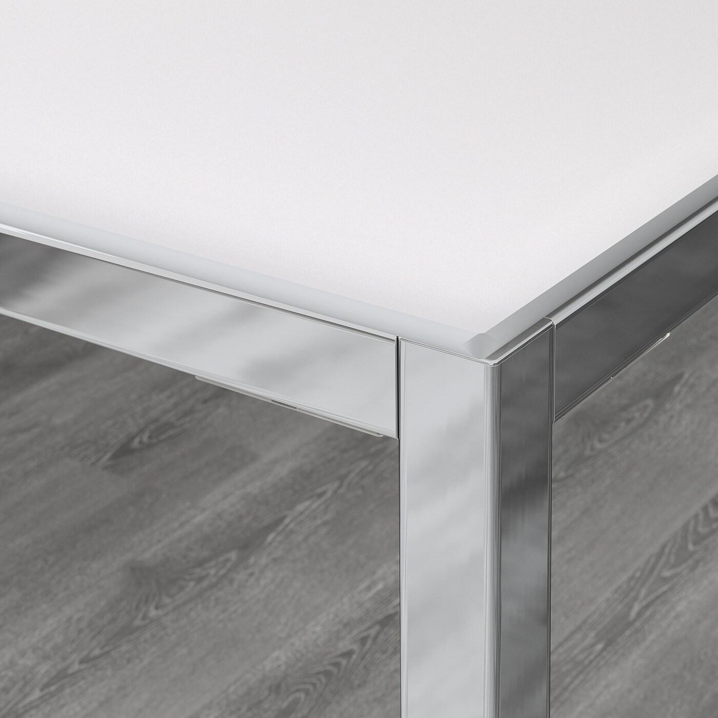 torsby table chrome verre blanc 180x85 cm