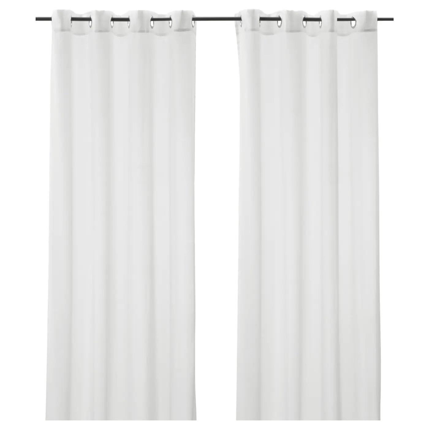 trajon voilage 2 pieces blanc 145x300 cm