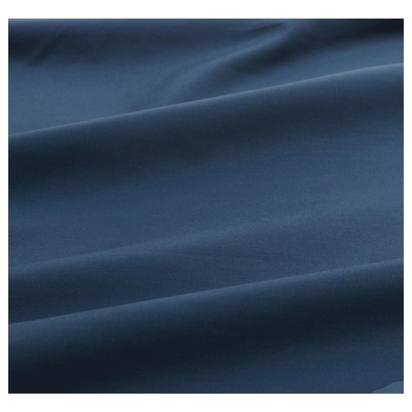 Ullvide Drap Housse Bleu Fonce 140x200 Cm Ikea