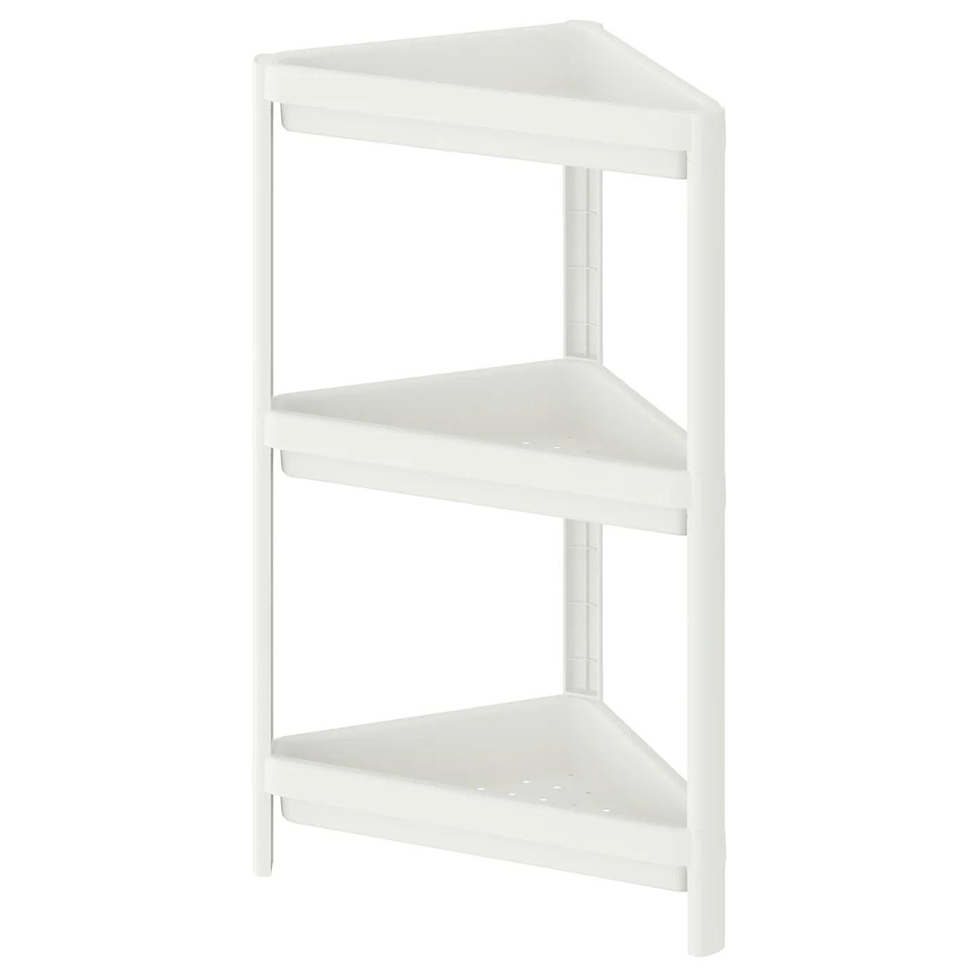 vesken etagere d angle blanc 33x33x71 cm