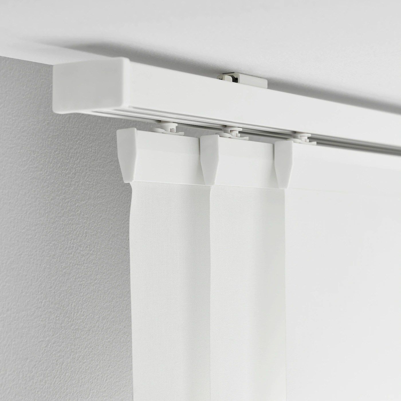 vidga rail pour rideau triple blanc 140 cm