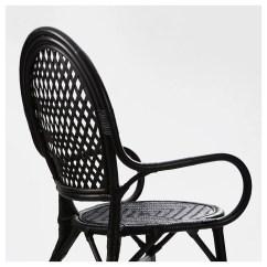 Rattan Chair Ikea Patio And Ottoman Covers Älmsta Black
