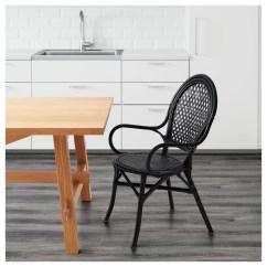 Rattan Chair Ikea Round With Cushion Älmsta Black