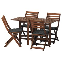 Black Folding Table And Chairs Set Foam Chair Bed Uk Garden Tables Outdoor Ikea