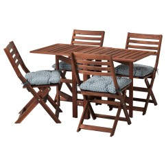 Brown Wooden Folding Chairs Tablecloth And Chair Covers Ideas ÄpplarÖ Table 434 Outdoor Stained