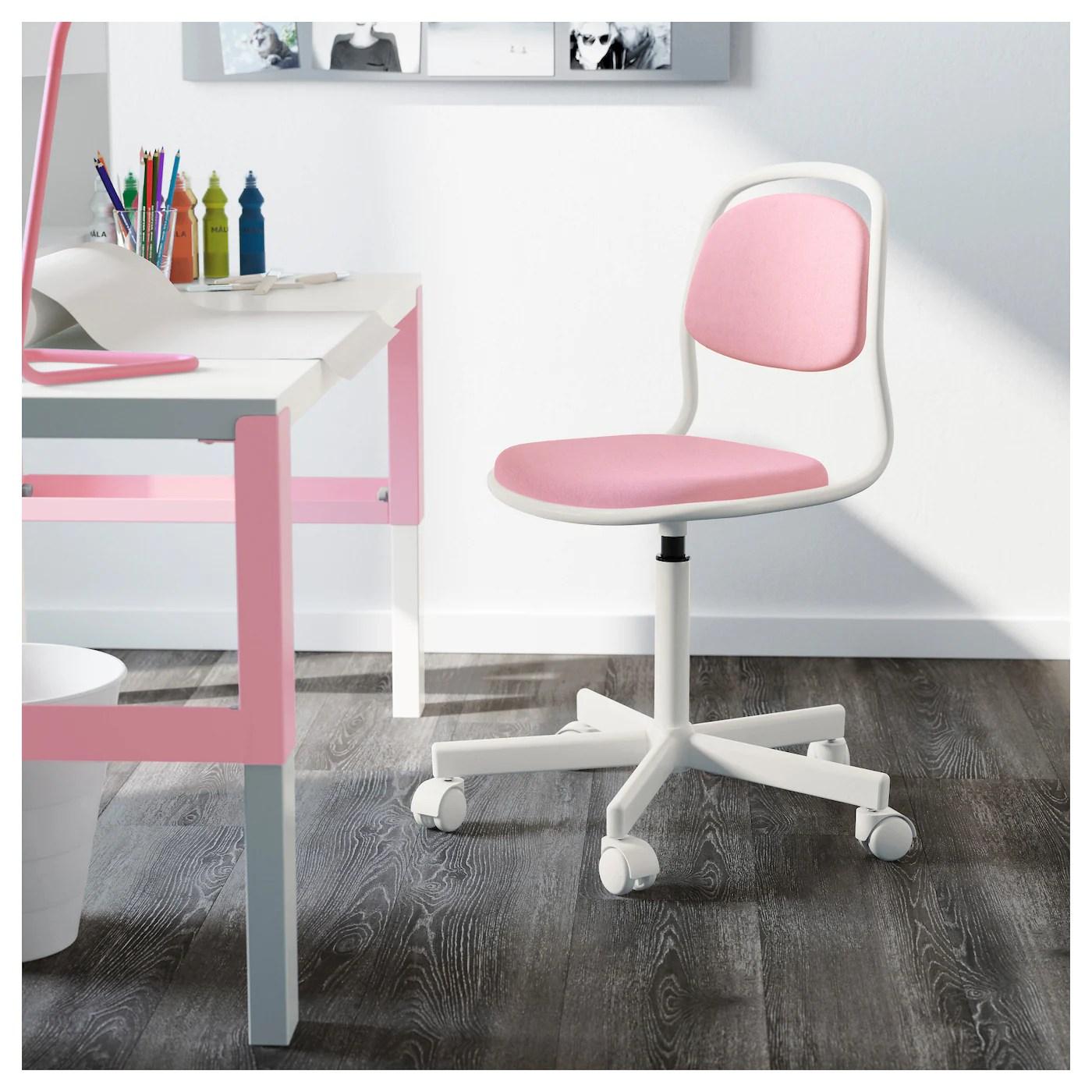ikea junior desk chair fishing with canopy ÖrfjÄll children 39s white vissle pink