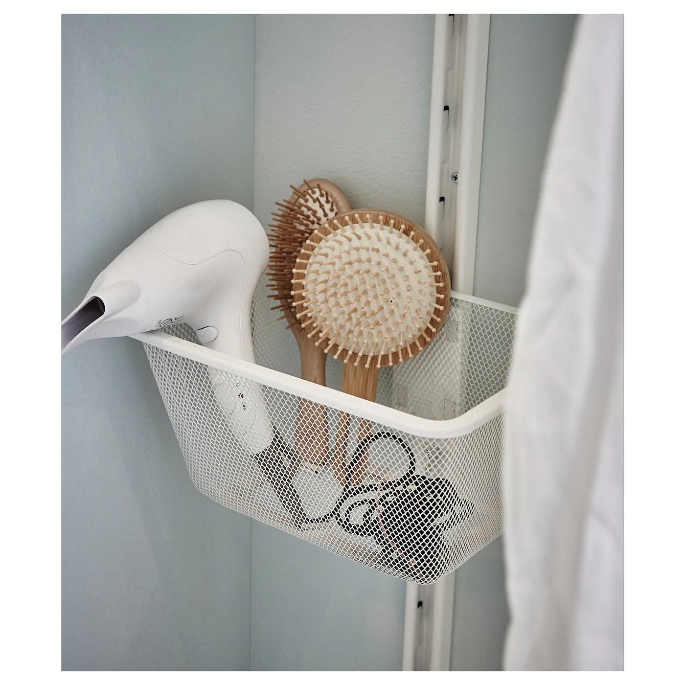 ALGOT Mesh Basket With Bracket White 30 X 22 X 15 Cm IKEA